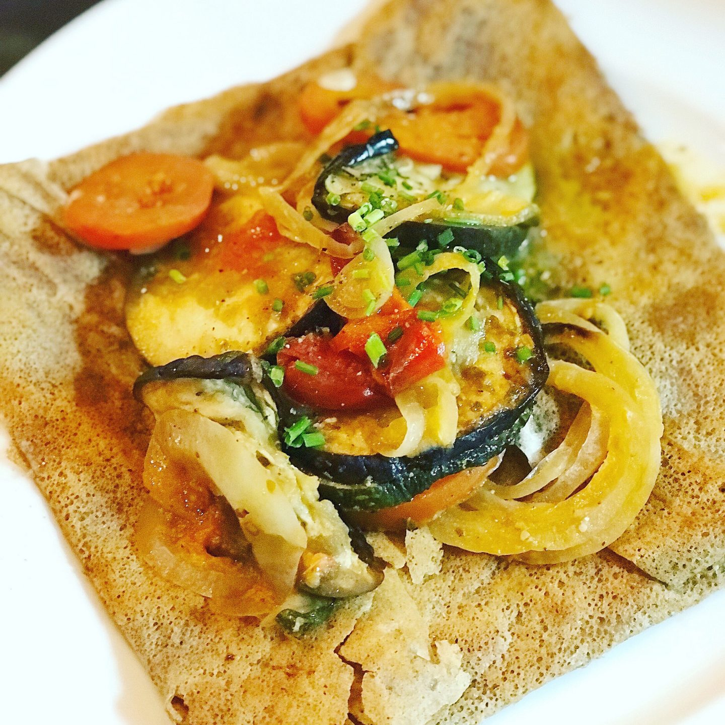 Buckwheat Crepes with Grilled Veggies