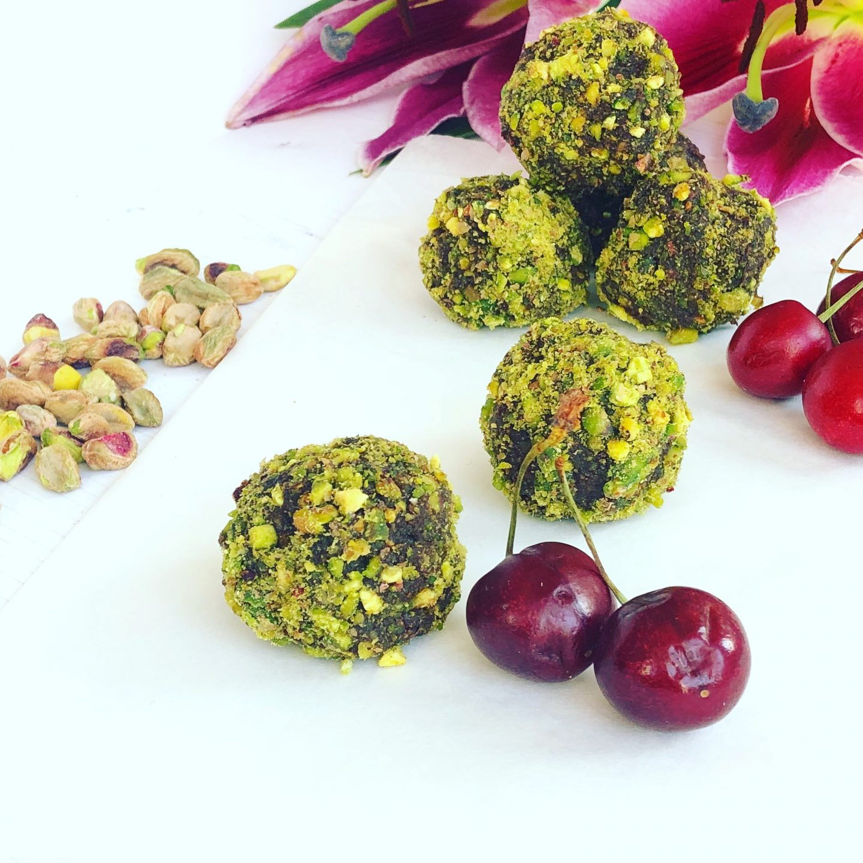 Cherry Choco Pistachio Balls
