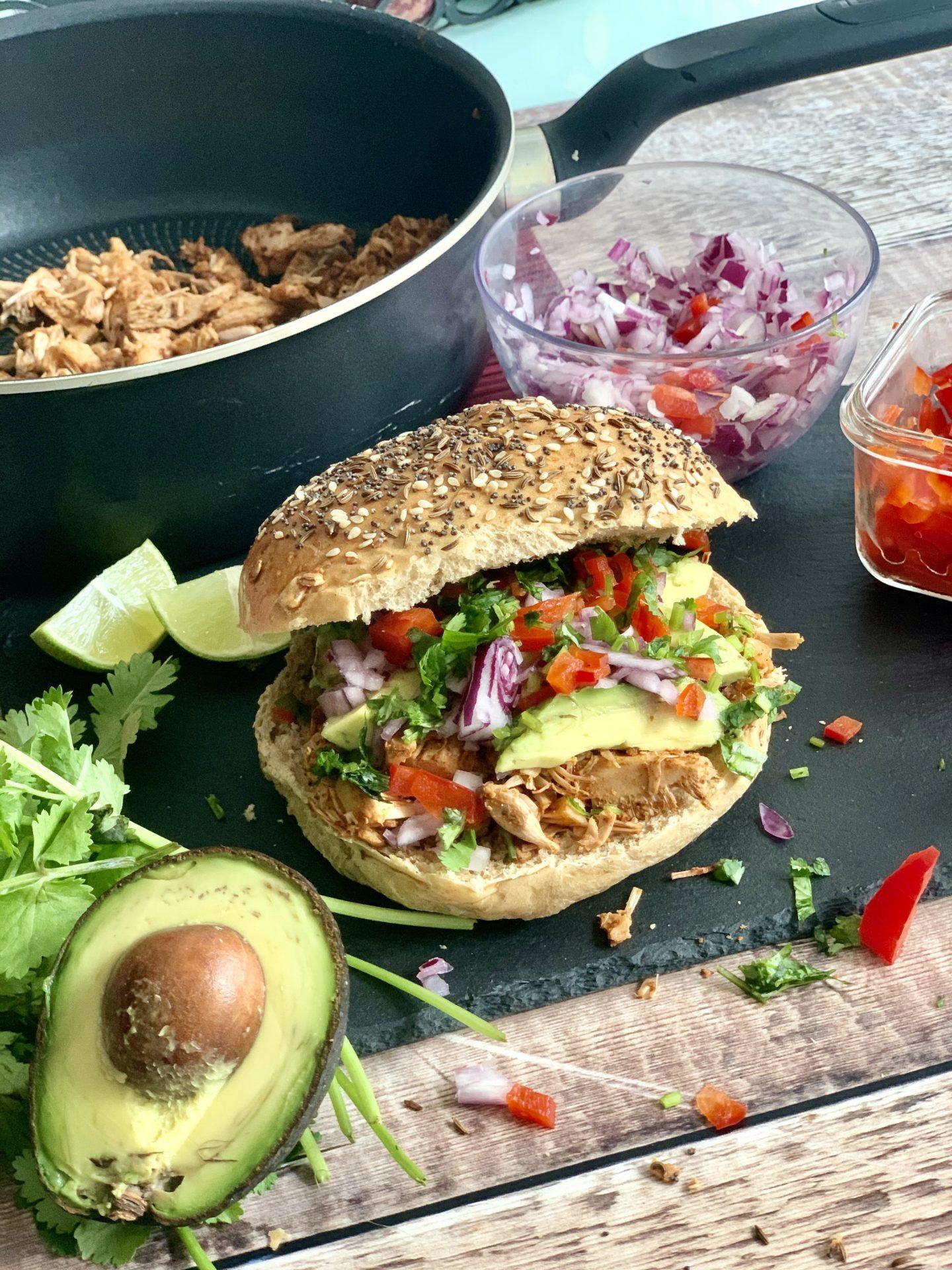 Tandoori Pulled Jackfruit Vegan Burger