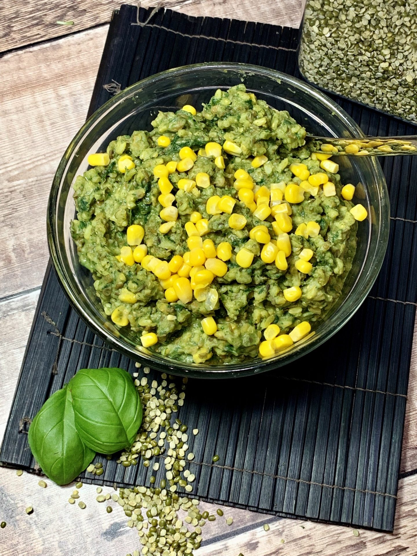 Spinach & Sweetcorn Khichdi
