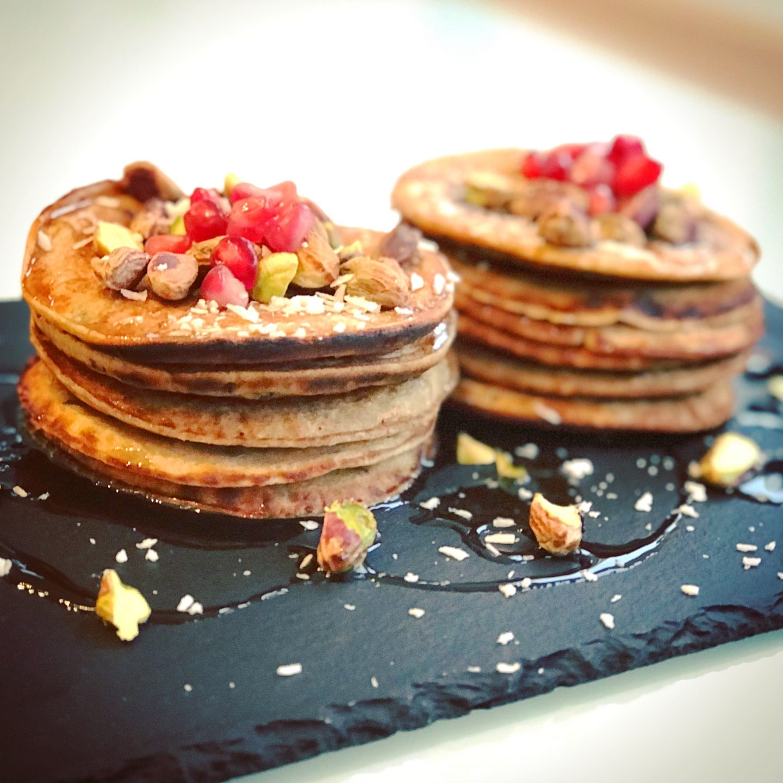 Oat Flour Cinnamon Pancakes