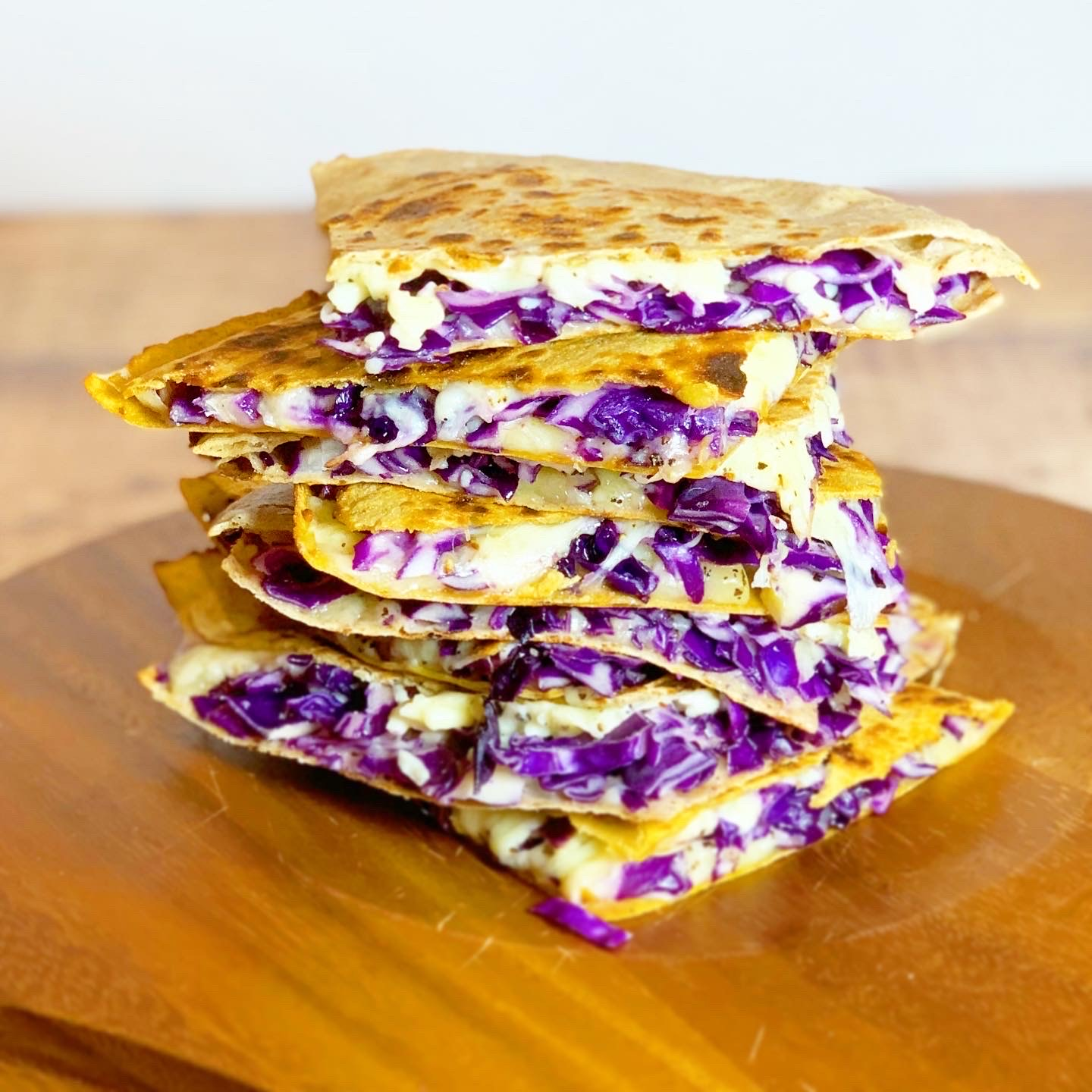 Purple Cabbage & Cheese Grilled Wrap Sandwich
