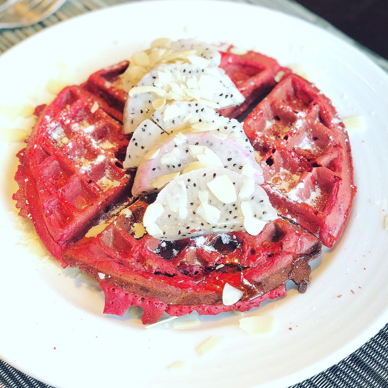 Beetroot Waffles