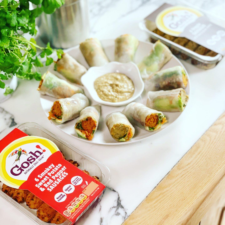 Gosh! Vegan Sausage Salad Rolls