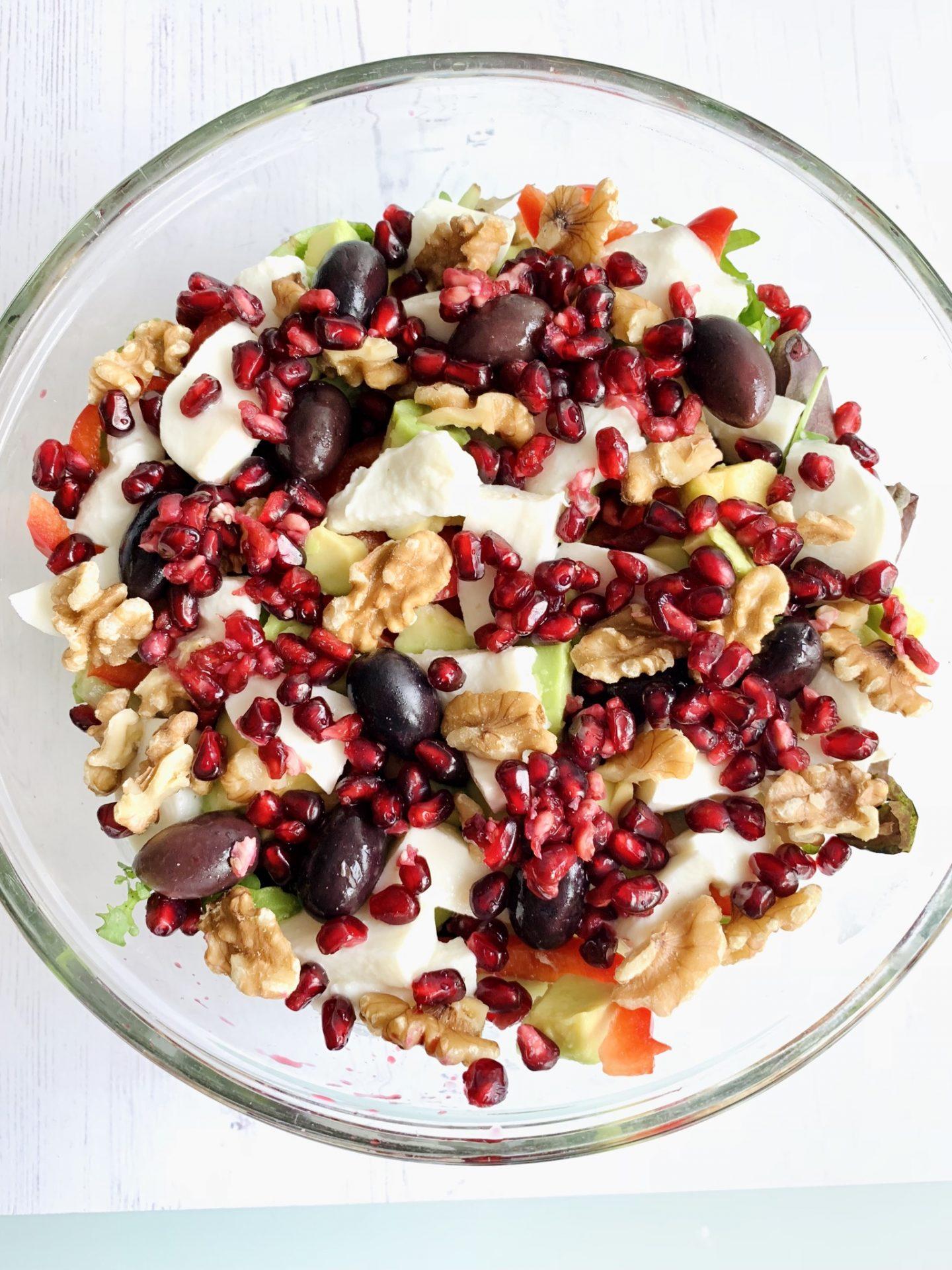 Mediterranean Pomegranate & Walnut Salad
